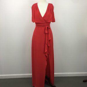 NWT BCBG MaxAzria Ruby Red Maxi Evening Dress